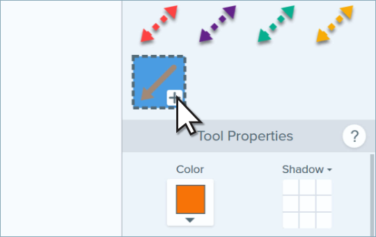 Cursor clicking plus icon to add a new Quick Style to Snagit.