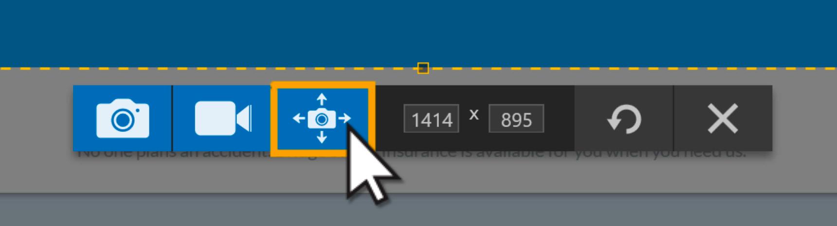 Snagit Panoramic Capture Toolbar