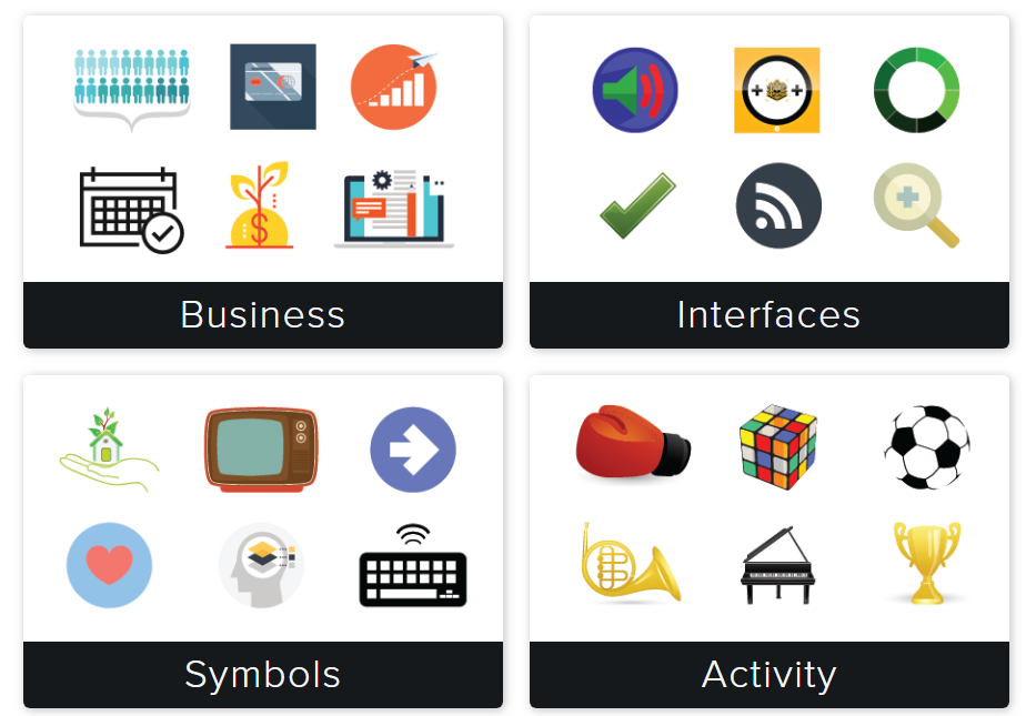 Stamps and categories in Snagit Assets.