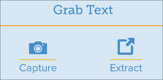 Grab text and capture glyphs.
