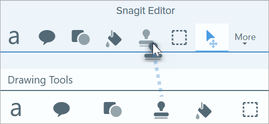 Add a tool to the Snagit toolbar