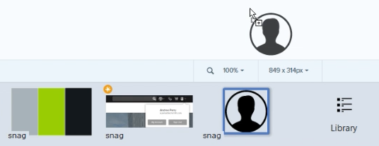 Combining images in Snagit