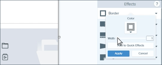 Snagit user interface effects