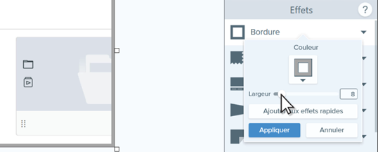 Editing border settings