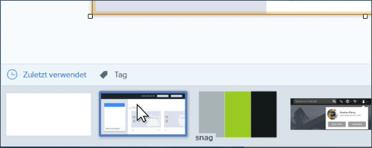 Snagit user interface