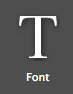 Fonts button