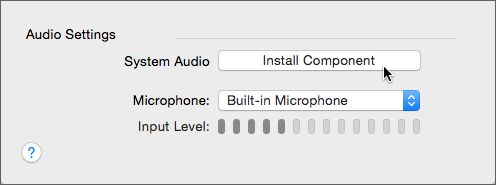 Image of Audio Settings options in Preferences