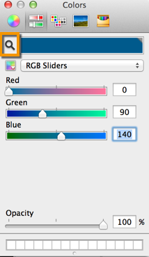 Font color picker button