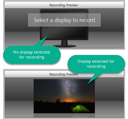 Recording Preview dialog options