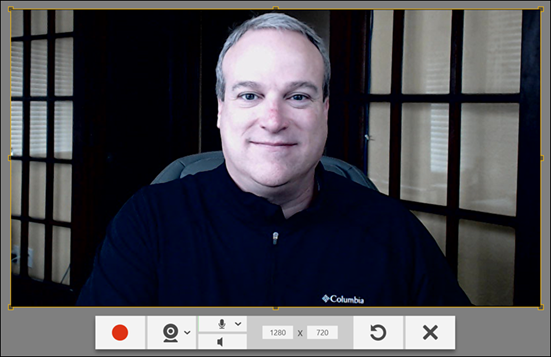TechSmith Capture Webcam Preview