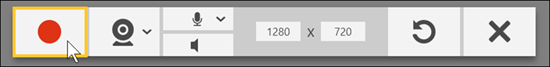 TechSmith Capture Record Button
