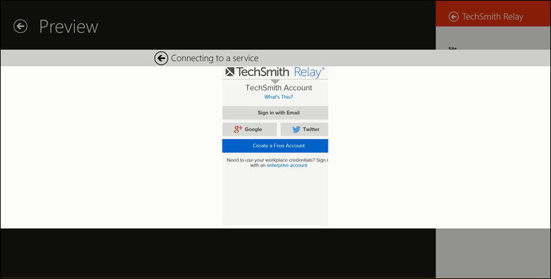 TechSmith Relay sign in in Fuse