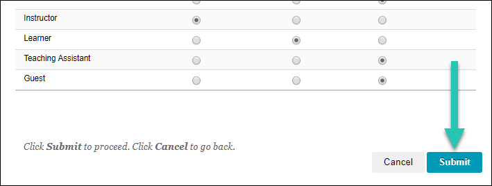Screenshot of the submit button, highlighted