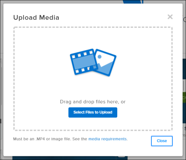 Screenshot of the Upload Media modal window in TechSmith Relay