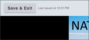Save & Exit button in top left corner