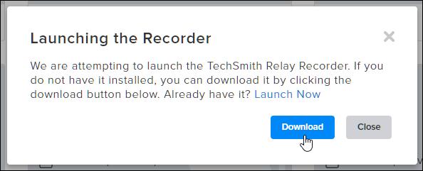 Downloading the TechSmith Relay Recorder