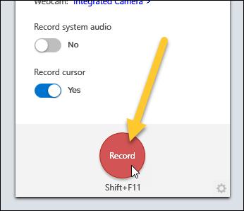 Click Record