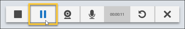 Pause button on the Recorder controls