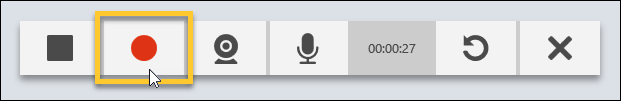 Record button on the Recorder controls