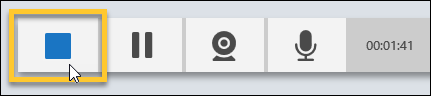 Stop button on the Recorder controls