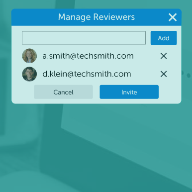 Reviewer invitation dialog.