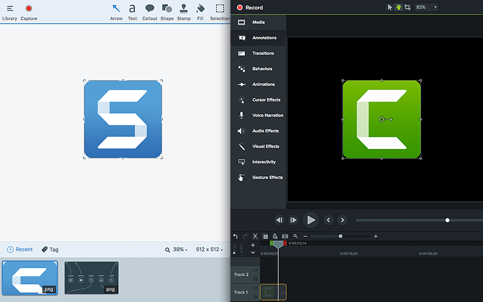 Lot Camtasia® 2018/Snagit® 2019 Éducation