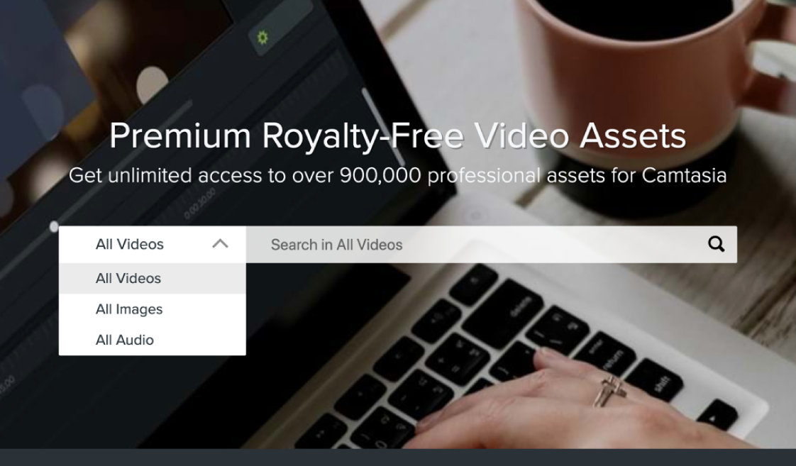 Unlimited access to over 900,000 professional assets for Camtasia