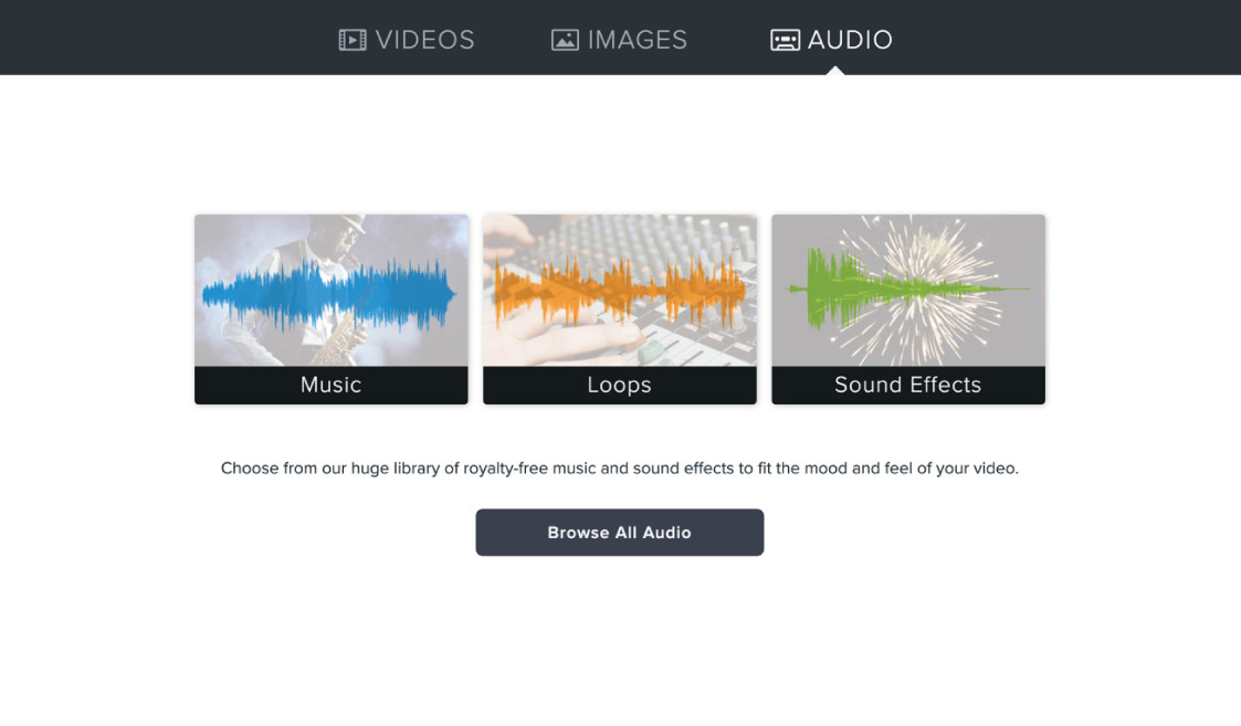 Huge library of royalty-free music and sounds effects