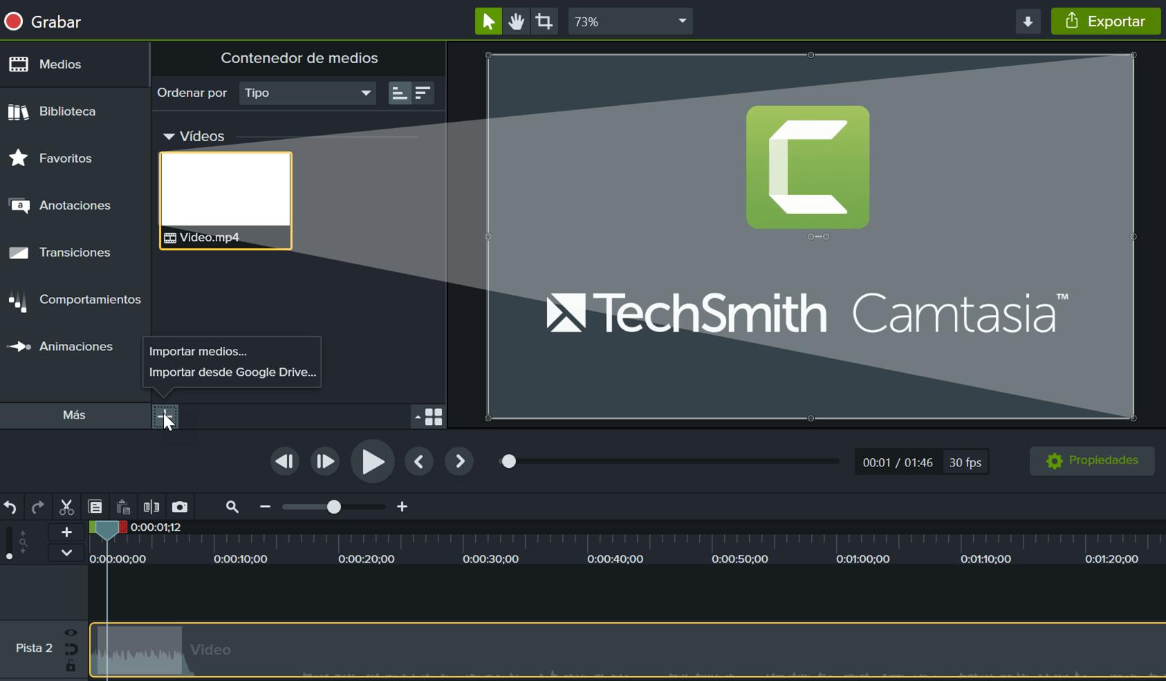 Importa tus propios vídeos, fotos y diapositivas.