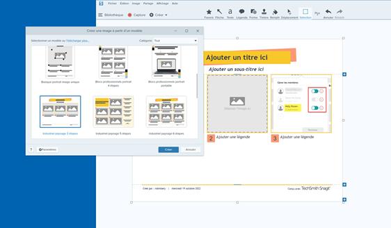 Des modèles prêts à l'emploi pour faciliter la création de contenus.