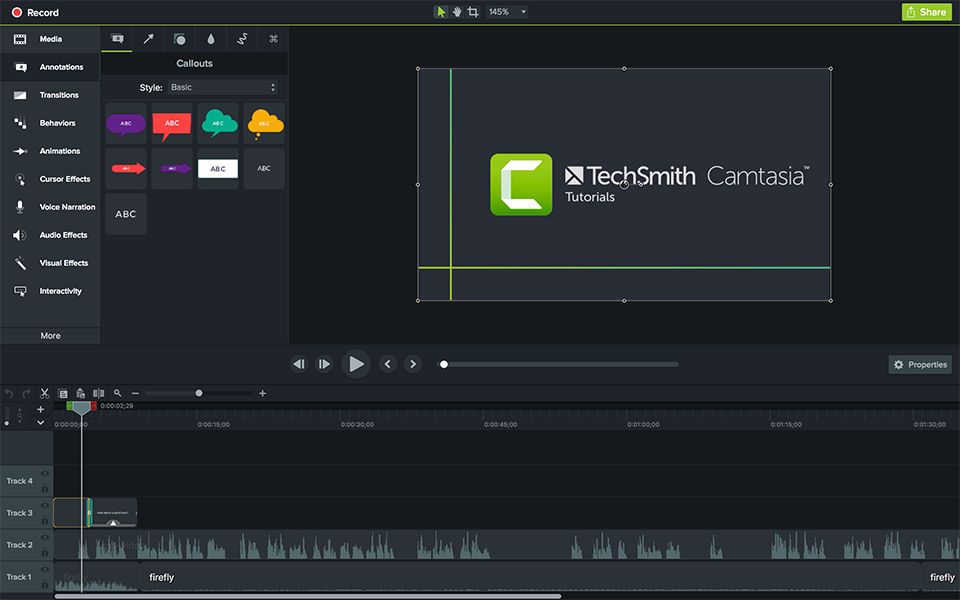 Camtasia® 2018 Education